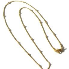 BYBJOR Ketting Ball Chain goud-edelstaal