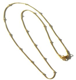 BYBJOR Ketting Ball Chain goud-edelstaal