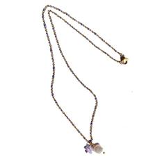 BYBJOR Ketting Pearl & Stone Enamel Chain