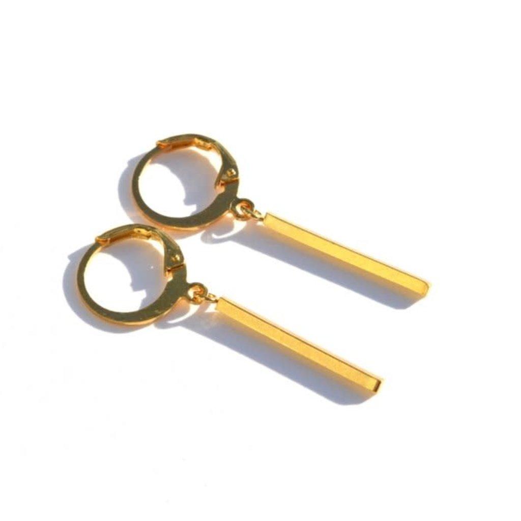 BYBJOR Golden Bar Long Earrings