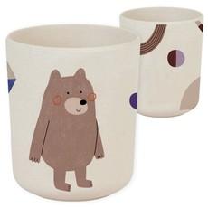 NUUKK Bamboe beker Bear