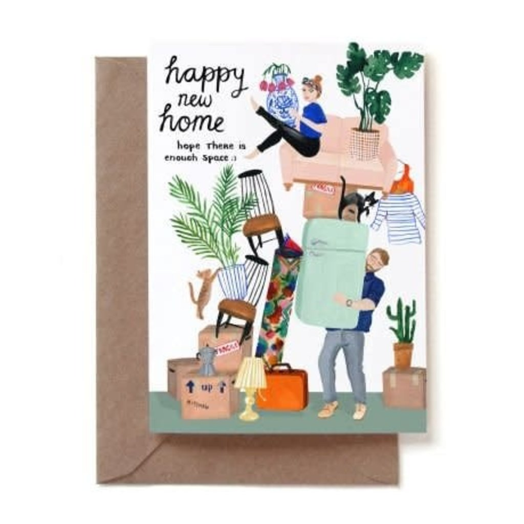 REDDISH DESIGN HAPPY NEW HOME MOVING