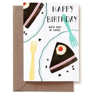 REDDISH DESIGN HAPPY B-DAY WITH CAKE