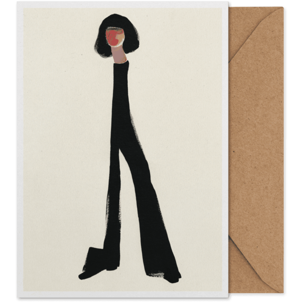 PAPER COLLECTIVE Paper Collective Art card Black Pants