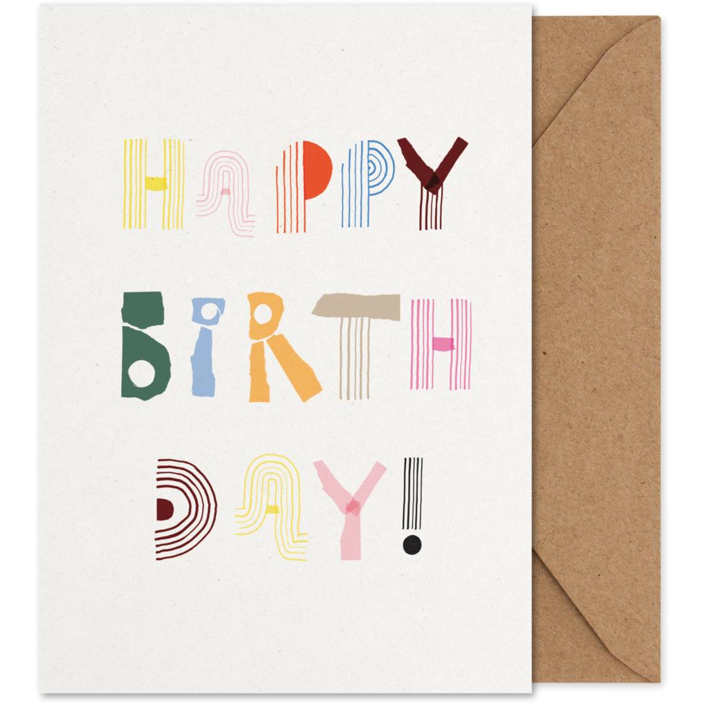 MADO Mado Art card Happy Birthday