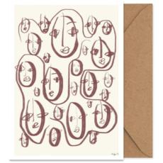 PAPER COLLECTIVE Paper Collective Art card Random faces