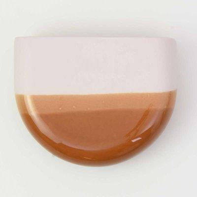 HARM & ELKE HARM & ELKE dip wall vase-half round