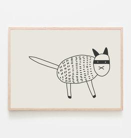 SILVIA VISSCHER Poster   Cat Black