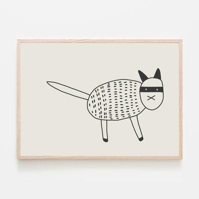 SILVIA VISSCHER Poster | Cat Black