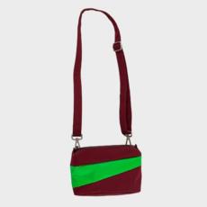 SUSAN BIJL SUSAN BIJL Bum Bag burgundy-greenscreen