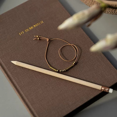 MONK & ANNA notebook | washed linen