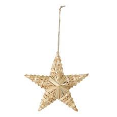 Kersthanger ster gras naturel 15cm