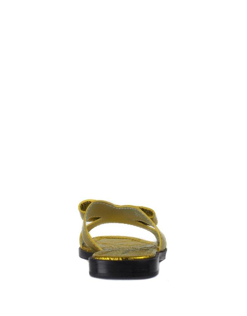 Kennel & Schmenger Slipper Geel Metallic