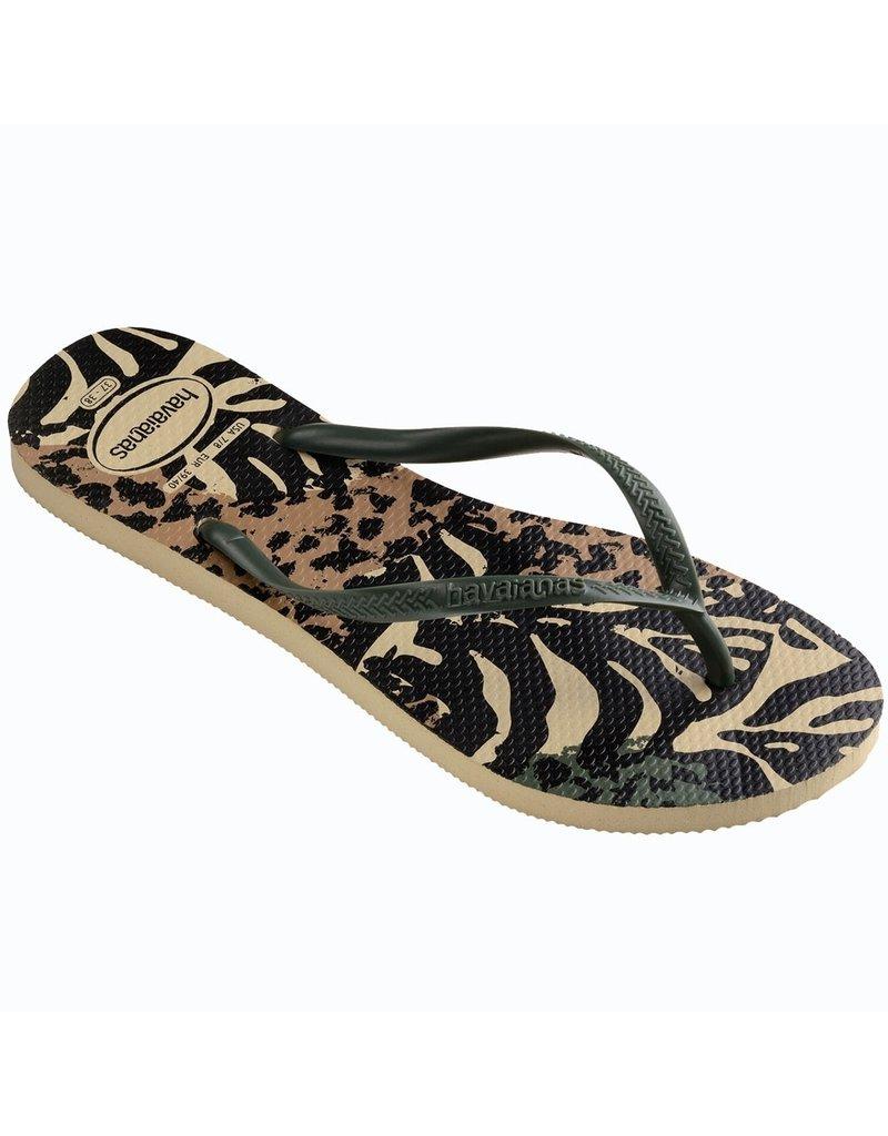 Havaianas Slipper Animal Green/Grey