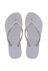 Havaianas Slipper slim platform glitter grey