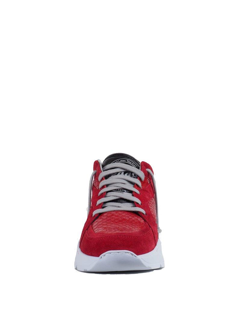P448 Rode Sneaker met print