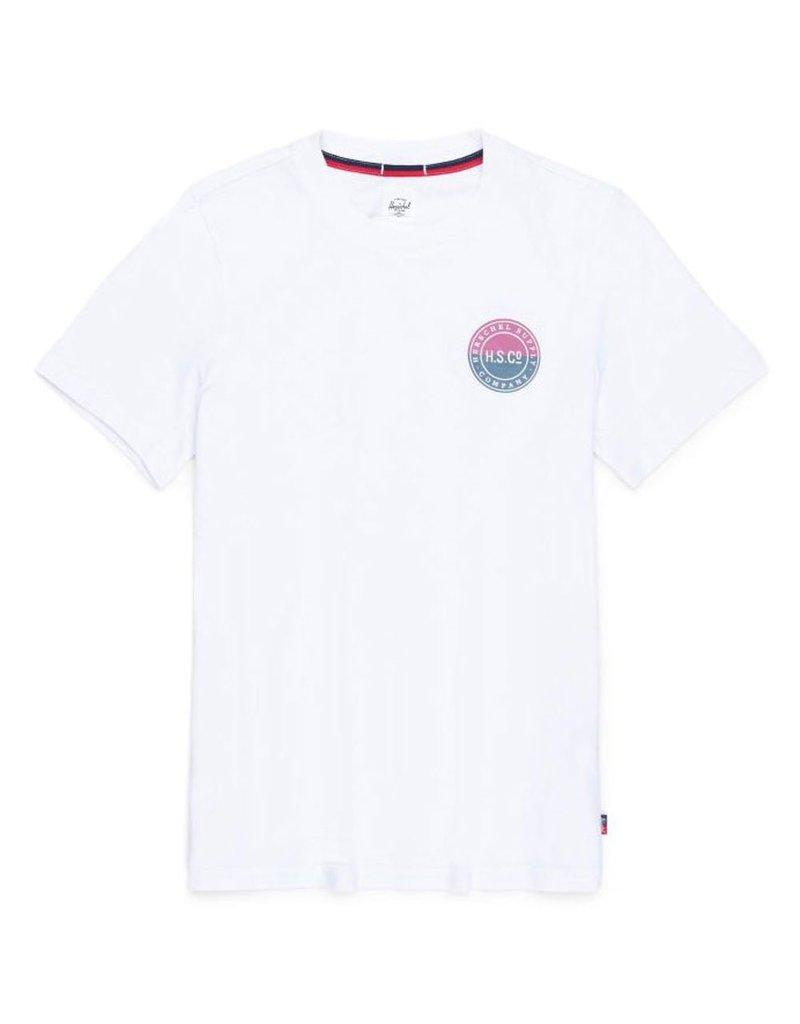 Herschel Tee wit met logo