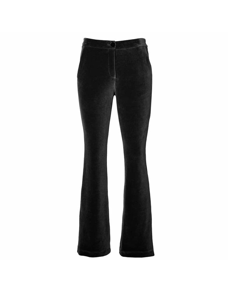 Penn&Ink Velvet Trouser Zwart