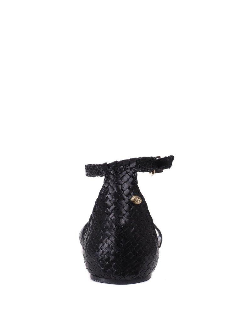 Fred de la Bretoniere Gevlochten sandaal zwart