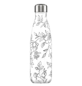 Chilly's Bottle Line art Flowers 500ml