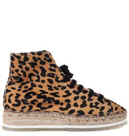 Shabbies Hoge Espadrille Leopard