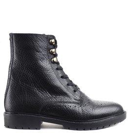 Fred de la Bretoniere Ankle Boot Lace Up Zwart