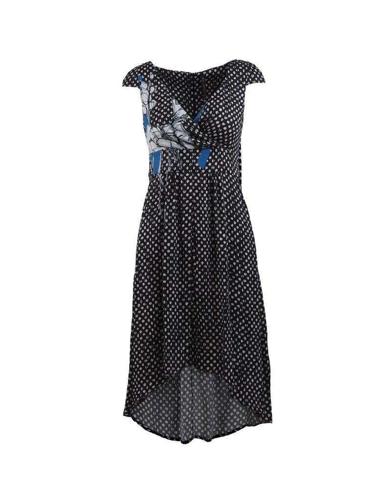 Manila Grace Dress Zwart met witte stippen