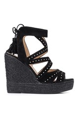 Kanna Zwarte Sandalen met Sleehak