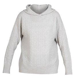 Blue Sportswear Pull Riga fine cable knit grijs