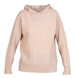 Blue Sportswear Pull Riga fine cable knit roze