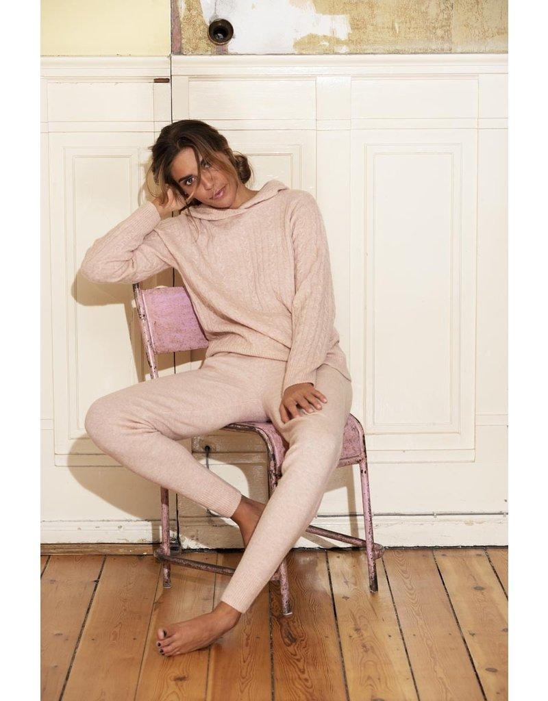 Blue Sportswear Pants Riga fine knit roze