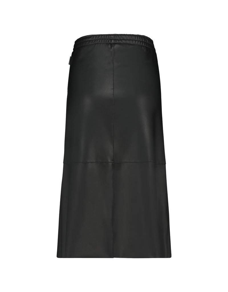 Penn&Ink Skirt Lederlook Zwart