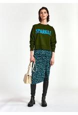 Essentiel Sweater Warkle sequins embo groen