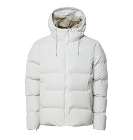 Rains Boxy Puffer Jacket Wit