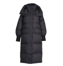 Essentiel Coat Widiot long hooded puffer zwart