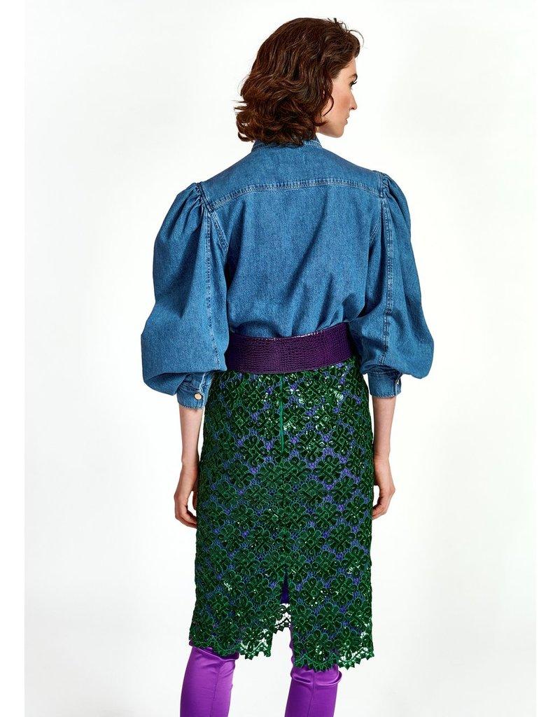 Essentiel Shirt Wingman puffy sleeve jeans