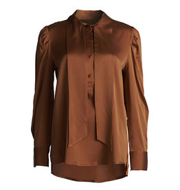 Femmes du Sud Blouse silk Josephine cognac