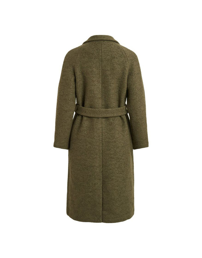 Object Coat long Robina Groen