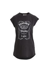 Rabens Saloner T-shirt Lenore shadow print Zwart