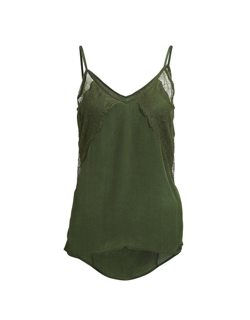 Rabens Saloner Top Kristinn nocturne camisole groen