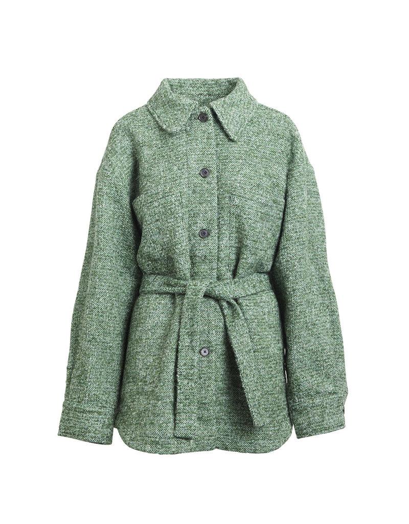 Rabens Saloner Jacket Kaisey medley yarn shirt groen