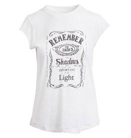 Rabens Saloner T-shirt Lenore shadow print wit