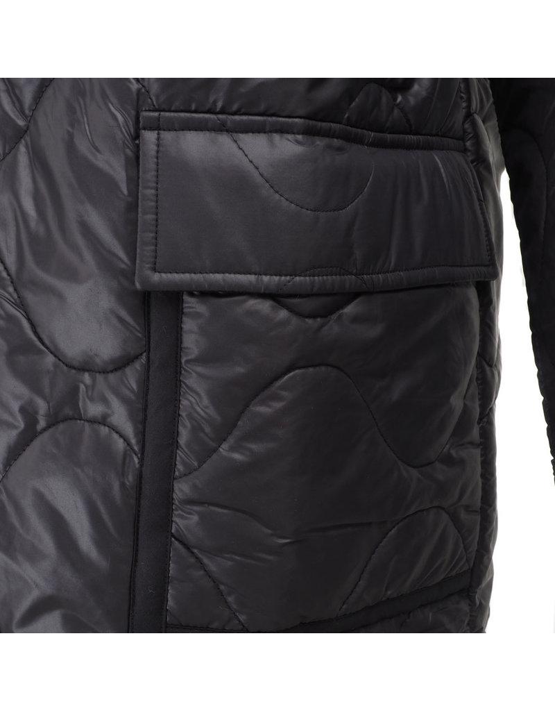 Leon & Harper Jacket Vision Plain long zwart