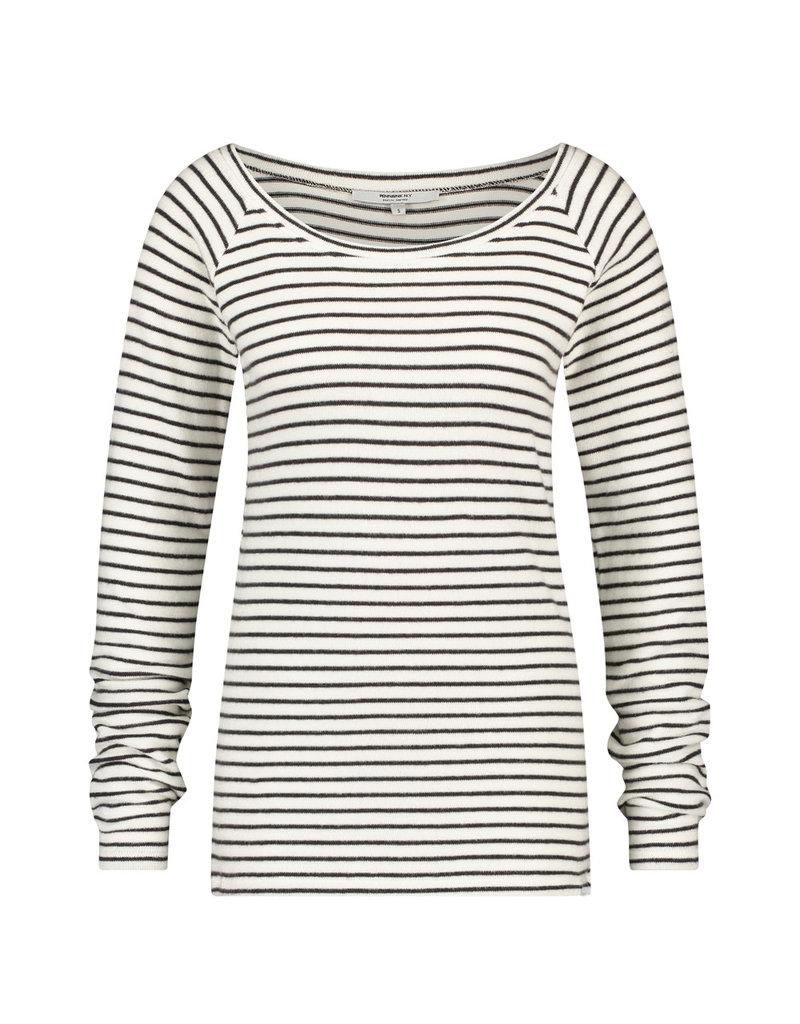 Penn&Ink Longsleeve stripe Offwhite/grijs