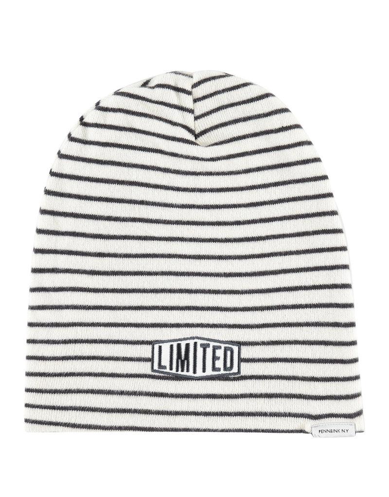 Penn&Ink Hat stripe Offwhite/Grijs