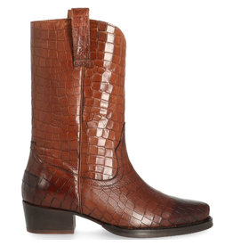 Shabbies Boot western croco print bruin