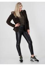 Penn&Ink Trouser Leather look Zwart