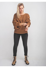 Be Pure Knit pullover tobacco