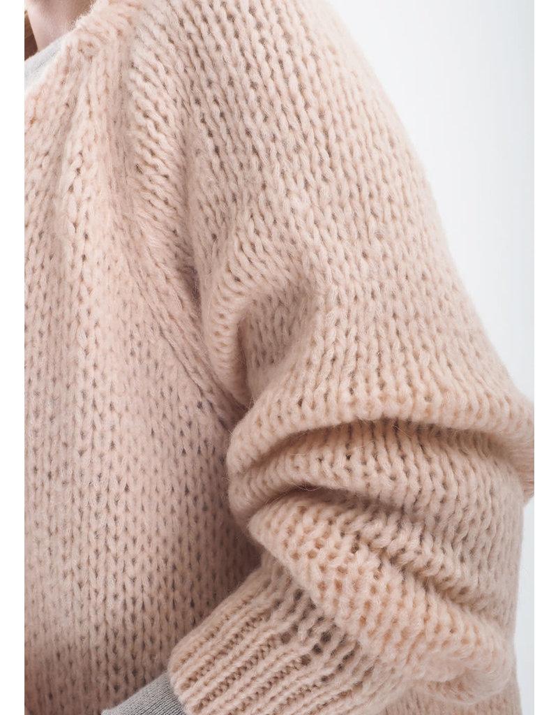 Be Pure Knit cardigan peach