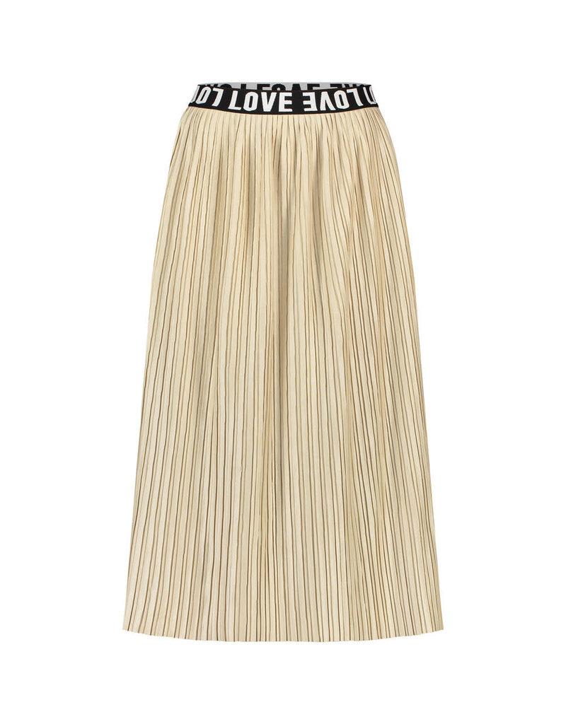 Penn&Ink Skirt plisse beige